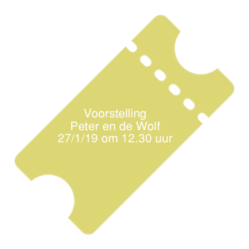 Ticket voorstelling VHD  27 januari 2019  (Peter en de Wolf) 12.30 uur