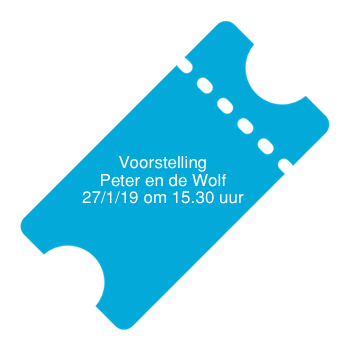 Ticket voorstelling VHD  27 januari 2019  (Peter en de Wolf) 15.30 uur